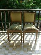 Két darab felújítandó, rugós régi szék együtt eladó