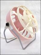 Retro rózsaszín asztali ventilátor