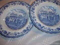 Angol kék mély tányér 25 cm 2 darab