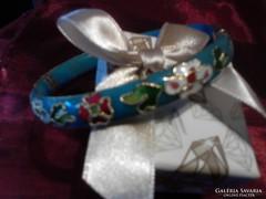 Kék különleges zománcozott karkötő