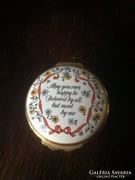 Halcyon Days porcelán dobozka