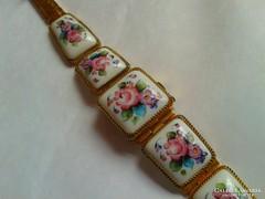 Gyönyörű festett porcelán Chajka karóra