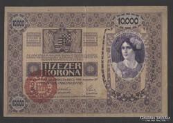 10000 korona 1918. (Magyarország felülbélyegzés) !!