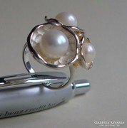 Igazgyöngy DESIGN  ezüst gyűrű