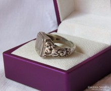 Gyönyörű, antik ezüst pecsétgyűrű  /újra gravírozható