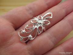 Romantikus virágos ezüst gyűrű