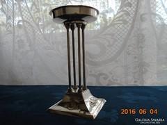 JUGENDSTIL-ezüstözött oszlopos kínáló-asztalközép-20 cm