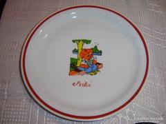 Zsolnay gyerek ritka Miki tányér  20 cm