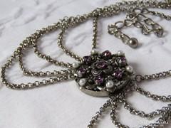 Álomszép collier ametiszttel és gyöngyökkel