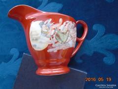 Kínai-porcelán kiöntő-Szecessziós hölgy mintával