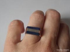 Lapis lazuli berakásos 950 jelzésű ezüst gyűrű