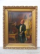 Osztrák festő, 19.sz. : Köszöntés