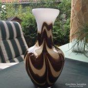 Nagyméretű muranói rétegelt üvegváza