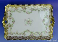 0G615 Régi Limoges porcelán kínáló tálca
