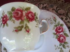 Rózsa mintás Bavaria csésze alátét tányérral  0607/2