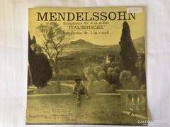 Mendelssohn - 1. és 4. szimfónia bakelit lemez