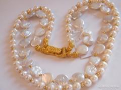 2 soros tenyésztett gyöngy nyaklánc