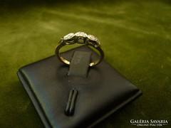 Régi arany gyémántos gyűrűcske