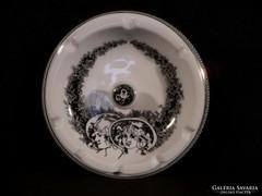 J069 Hollóházi porcelán hamutál Jurcsák László