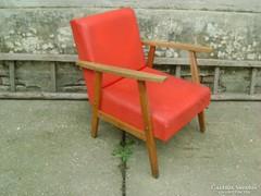 Retro műbőr fotel