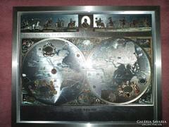 Ezüstözött világtérkép