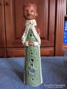 Barna Király,jelzett kerámia szobor - art ceramic sculpture