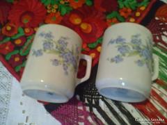 Zsolnay kéknefelejcses bögrék 2 darab
