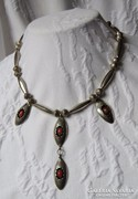 Gyönyörű, egyedi, régi kézműves ezüst collier - 30,87 gr