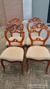 Gyönyörű,dúsan faragott barokk székek!