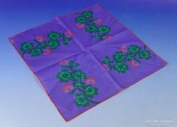 0F904 Jelzett GISELE RAPPAZ textil zsebkendő