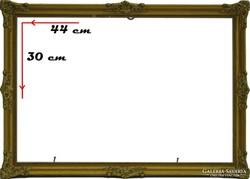 0H023 Régi aranyozott Blondel képkeret 30 x 44 cm