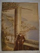 Csúcskategóriás jelzett régi akvarell festmény