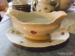 Zsolnay szószos tál, öttorony jelzés - porcelaine bowl
