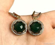 Csodálatos smaragd köves ezüst fülbevaló