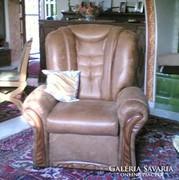 Masszív TV fotel faberakásós és kanapé