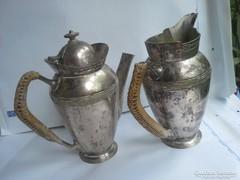 Argentor Ezüstözött kávé és tej kiöntök