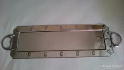 Régi szecessziós fém tálca (hosszú)