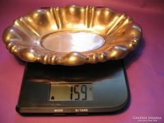 Ezüst ovális kínáló tál 159 gramm 800-as magyar 1867-1937