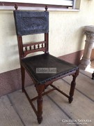 Antik bútor, Ónémet bőrözött szék 1db.