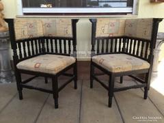 Antik bútor, Ónémet sarok szék 2db.