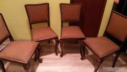 4 db szecessziós étkező szék az 1900-as évek elejéről