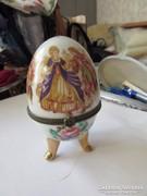 Zsáner jelenetes porcelán ékszertartó