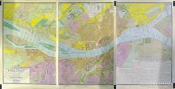 0H041 Háromrészes Budapest térkép reprint 1833
