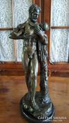 Héraklész mitológiai bronz szobor