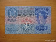 *** Extra 1913-as bélyegzés nélküli I. kiadású 20 korona***