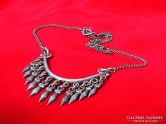 Rojtos antik ezüst nyaklánc