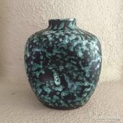 Iparművész zöld kerámia váza - art design ceramic vase