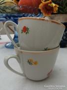 Zsolnay,virágos csészepár