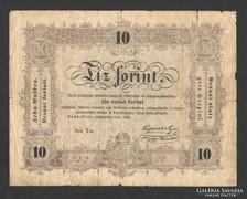 """10 forint 1848.   (hibás, """"büntetettnek"""") !!!"""