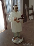 """Régi Cseh üveg szobor """"állatorvos"""""""